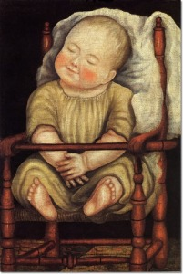 unknown-artist-baby-in-red-chair